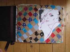 Junky illustration and recycled fabric weaved